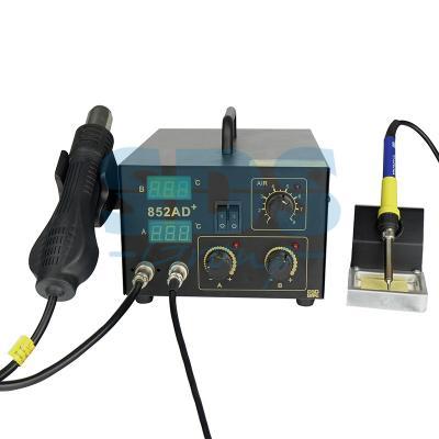 Паяльная станция (паяльник + термофен) с цифровым дисплеем 100-480°С (R852AD+) REXANT паяльная станция stayer 55371 master аналоговая диапазон 100 480°c 48вт