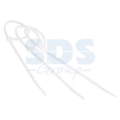 Хомут nylon 100 x 2,5 мм 100 шт белый профессиональный 25cm nylon cable zip ties 100 piece
