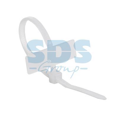 Хомут под маркер nylon 100 x 2,5 мм 100 шт белый REXANT hgh20ca 100