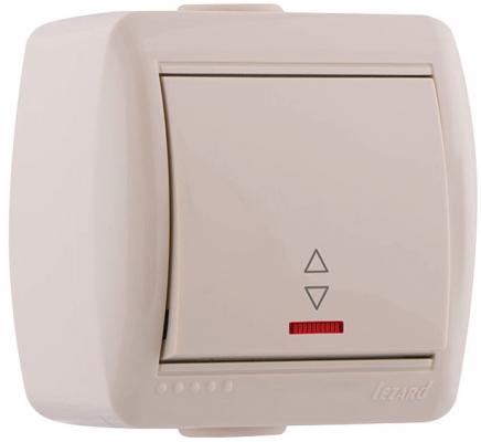 Выключатель LEZARD 710-0300-114 проходной подсветка наруж.проводки серии Ната белый розетка lezard 702 0202 122