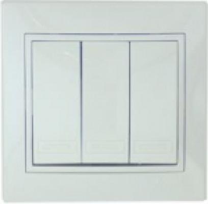 Выключатель LEZARD 701-0202-109 серия скр.проводки Мира тройной белый