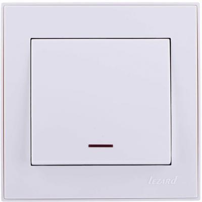 Выключатель LEZARD 703-0202-111 серия скр.проводки Рейн подсветка белый с белой вставкой