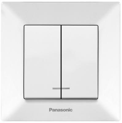 Выключатель PANASONIC WMTC0010-2WH-RES Arkedia 2кл свет белый