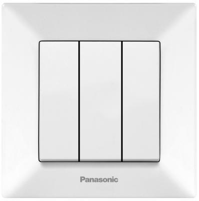 Выключатель PANASONIC WMTC0015-2WH-RES Arkedia 3кл белый