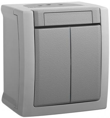 Выключатель PANASONIC WPTC4009-2GR-RES PACIFIC 2кл серый