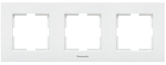 Рамка PANASONIC WKTF0803-2WH-RES Karre Plus 3м горизонтальная белая кабель амфенол 3м для атс panasonic односторонний