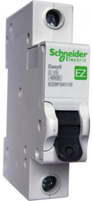 Выключатель автоматический Schneider Electric EASY9 ВА 1П 16А C 4.5кА 1DIN 1полюс 82х18мм автомат 1p 20а тип с 4 5ка schneider electric easy9