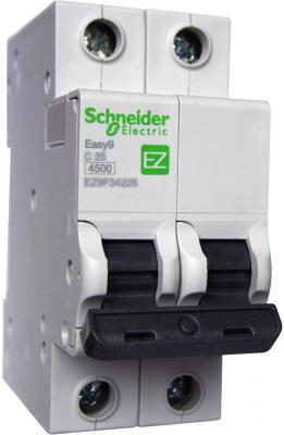 Выключатель автоматический Schneider Electric EASY9 ВА 2П 25А C 4.5кА 2DIN 2полюса 82х36мм автомат 1p 6а тип с 4 5ка schneider electric easy9