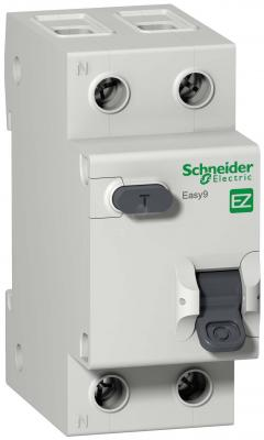 Выключатель автоматический диф. Schneider Electric EASY9 АВДТ 1П+Н 25А 30мА C AC 2DIN 2пол. 82х36мм