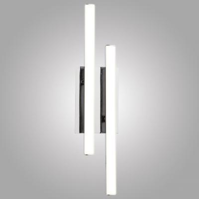 Настенный светодиодный светильник Eurosvet Хай-Тек 90020/2 хром настенное бра eurosvet хай тек 90020 2 хром