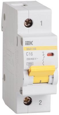 Выключатель автоматический модульный ИЭК 1п C/ 16А ВА 47-100 MVA40-1-016-C