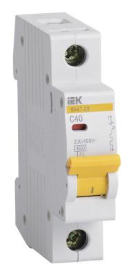 Выключатель автоматический модульный ИЭК 1п C/ 40А ВА 47-29 MVA20-1-040-C