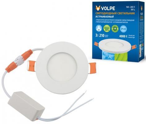 Встраиваемый светодиодный светильник (UL-00003475) Volpe ULM-Q263 3W/NW IP20 WHITE metsan mts 145 white