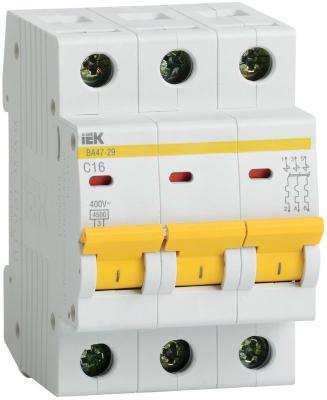 Выключатель автоматический модульный ИЭК 3п C/ 50А ВА 47-29 MVA20-3-050-C выключатель автоматический tdm ва47 100 4р 50а 10ка с sq0207 0085