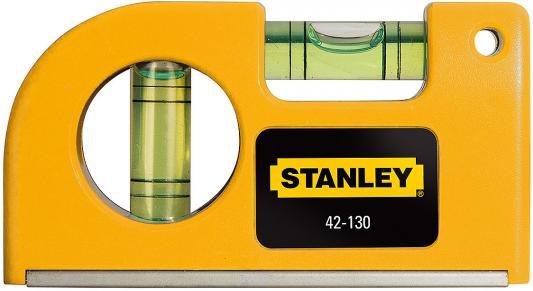 Уровень STANLEY 0-42-130 87мм 0.5мм/м 2 глазка магнит уровень stanley 50см antichoc compozit 1 42 461