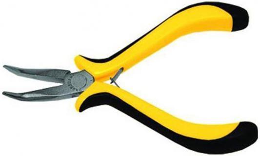 Утконосы FIT 51634 мини черно-желтая мягкая ручка никел.антикор.покрытие тонконосы fit 50636 стайл черно желтая ручка молибденовое покрытие 160мм
