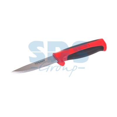 Нож строительный нержавеющая сталь лезвие 90 мм Rexant нож workpro w011010 строительный складной 150мм нержавеющая сталь с механизмом быстрого замены