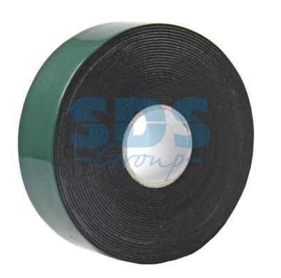 Двухсторонний скотч, зеленого цвета на черной основе, 25мм, 5метров REXANT двухсторонний скотч прозрачный 12мм 5м rexant