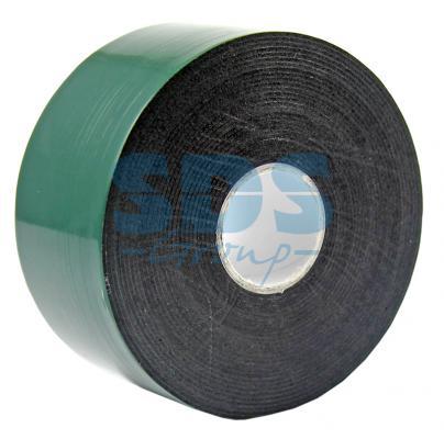 Двухсторонний скотч, зеленого цвета на черной основе, 40мм, 5метров REXANT двухсторонний скотч прозрачный 12мм 5м rexant