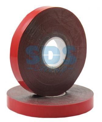 Двухсторонний скотч, красного цвета на серой основе, 12мм, 5метров REXANT двухсторонний скотч прозрачный 12мм 5м rexant
