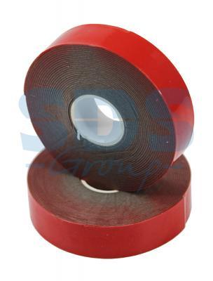 Двухсторонний скотч, красного цвета на серой основе, 20мм, 5метров REXANT двухсторонний скотч прозрачный 12мм 5м rexant