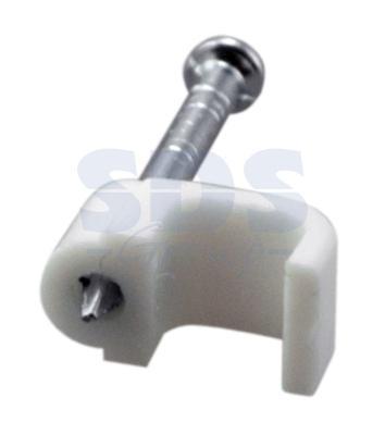 Крепеж кабеля плоский 6мм х 4мм (упак. 50 шт.) REXANT крепеж для вагонки 4мм 45шт
