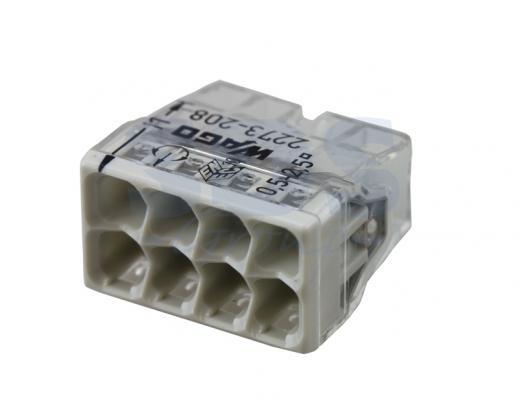 2273-208 Электромонтажные экспресс-клеммы (8*2.5мм2) WAGO