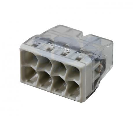 2273-248 Электромонтажные экспресс-клеммы (8*2.5мм2 с пастой) 50шт WAGO 20pcs wago type transparent wire connector 2 pole terminal block 400v 32a