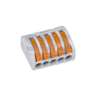 Универсальная многоразовая 5-проводная клемма REXANT (0,08-2,5 (4) мм?) 40шт. кольцо заводное akara power прессованное тех упаковка 200 шт 8 мм 61 кг