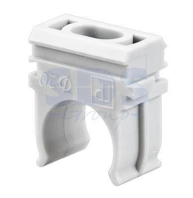 Крепёж-клипса для труб д.20 мм REXANT ПС 100 шт/уп (1500 шт/кор)