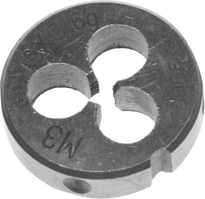 Плашка ЗУБР 4-28022-03-0.5 МАСТЕР круглая ручная М3x0.5