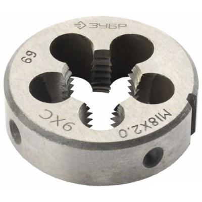 Плашка ЗУБР 4-28022-12-.25 МАСТЕР круглая ручная мелкий шаг М12x1.