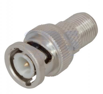 ПЕРЕХОД штекер BNC - гнездо F REXANT r142268000 rf connectors coaxial connectors bnc f str sqr mr li