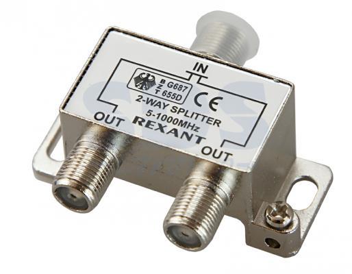 ДЕЛИТЕЛЬ ТВ х 2 под F разъём 5-1000 МГц REXANT 2 1x5 5mm f to 5 0x7 4mm male dc power plug connector adapter for dell hp laptop r179 drop shipping