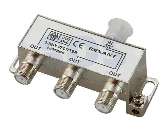 ДЕЛИТЕЛЬ ТВ х 3 под F разъём 5-1000 МГц REXANT разъём bnc под f