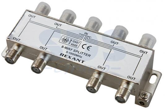 ДЕЛИТЕЛЬ ТВ х 8 под F разъём 5-1000 МГц REXANT разъём bnc под f