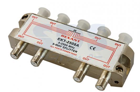 ДЕЛИТЕЛЬ ТВ х 8 под F разъём 5-2500 МГц СПУТНИК REXANT разъём bnc под f
