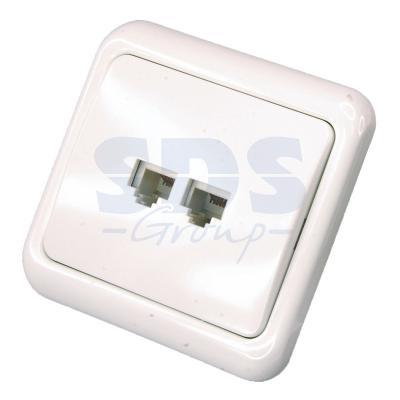 купить Телефонная розетка внутренняя - 2 6P-4C (2 порта) REXANT онлайн