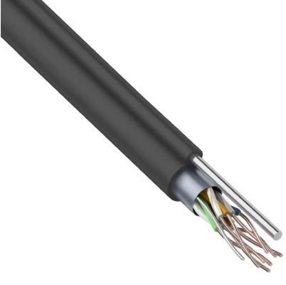 Фото - Кабель FTP 4PR 24AWG CAT5e 305м OUTDOOR + ТРОС*1 REXANT кабель ftp 2pr 24awg cat5e 305м rexant