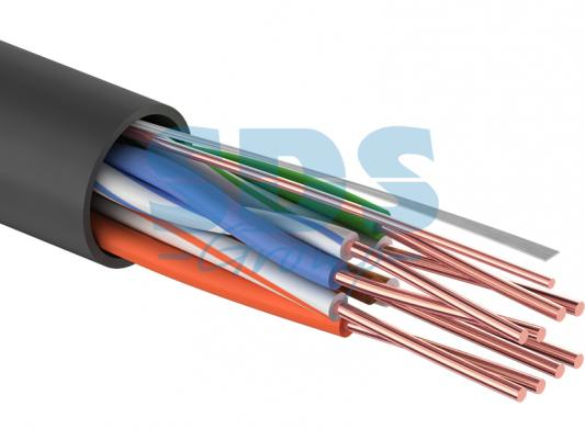 Фото - Кабель UTP 4PR 24AWG CAT5e OUTDOOR, 305м CCA PROCONNECT кабель utp 4pr 24awg cat5e outdoor 1 пог м