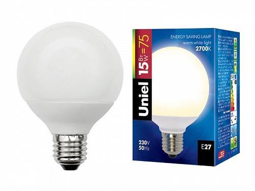 Лампа энергосберегающая (00863) E27 15W 2700K шар матовый ESL-G80-15/2700/E27 лампа энергосберегающая 0554 e14 15w 2700k спираль матовая esl s11 15 2700 e14
