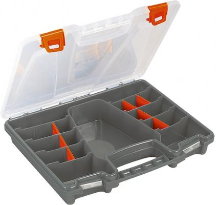 Органайзер STELS 90708 370х280х60мм пластик ящик для крепежа stels 90708