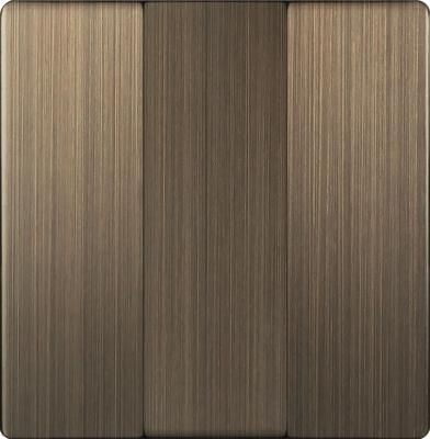 Лицевая панель выключателя трехклавишного бронзовая WL12-SW-3G-CP 4690389100567