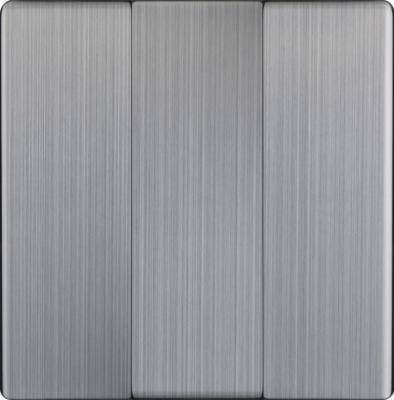 Лицевая панель выключателя трехклавишного глянцевый никель WL02-SW-3G-CP 4690389100437