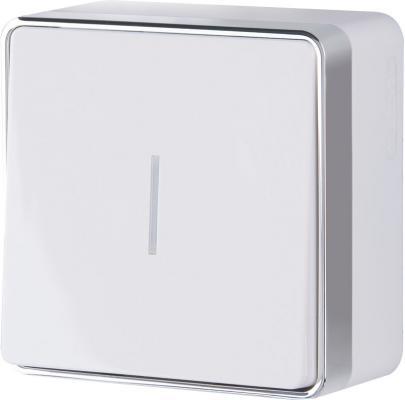 Выключатель одноклавишный с подсветкой Gallant белый WL15-01-04 4690389102066
