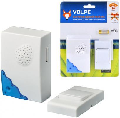 Звонок беспроводной (11015) Volpe UDB-Q022 W-R1T1-16S-30M-WH звонок беспроводной 11014 volpe 1251799