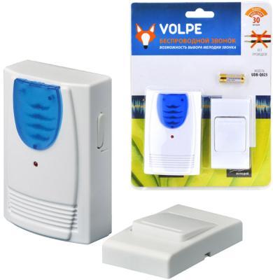 Звонок беспроводной (11016) Volpe UDB-Q023 W-R1T1-16S-30M-WH звонок беспроводной 11014 volpe 1251799