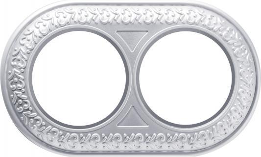 Рамка Antik Runda на 2 поста жемчужный WL70-frame-02 4690389106521