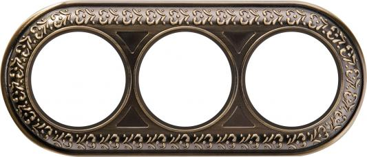 Рамка Antik Runda на 3 поста бронза WL70-frame-03 4690389106545