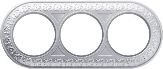 Рамка Antik Runda на 3 поста жемчужный WL70-frame-03 4690389106552